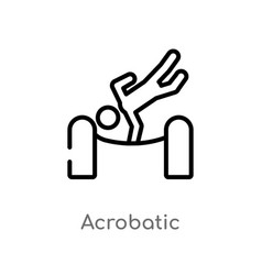 Outline acrobatic icon isolated black simple line vector