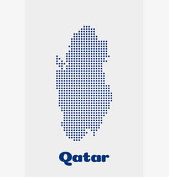 qatar dot map concept for networking technology vector image