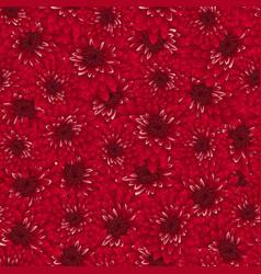 Red chrysanthemum seamless background vector