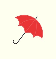red umbrella isolated on white open parasol vector image