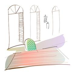 Room Interior Background vector image