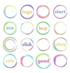 round button vector image