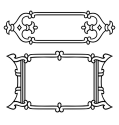 Russian style black ornamental decorative frame vector image