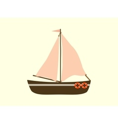 Sailing yacht sea transport vector image
