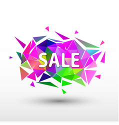 sale banner geometric background vector image