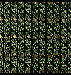 Seamless background ornamental vintage floral vector