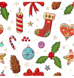 seamless festive pattern with traditional vector image