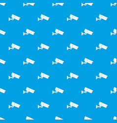 security camera pattern seamless blue vector image