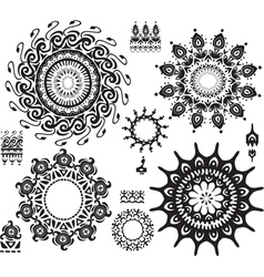 Set of ornamental pattern vector