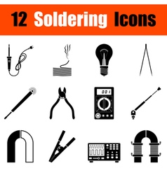 Set of soldering icons vector