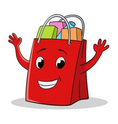 shopping bag cartoon vector image