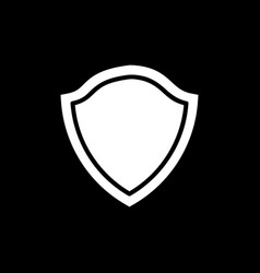 Silhouette shield for business design element on vector