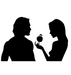 Silhouettes beautiful man and woman vector