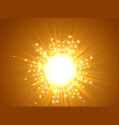 sky and sun magic blur design with burst rays vector image