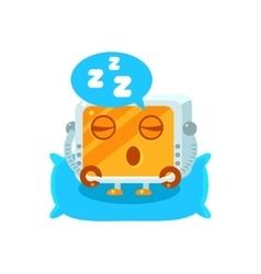 Sleeping Little Robot Character vector