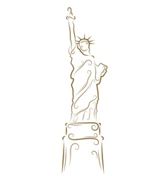 Statue of liberty sketch vector