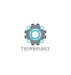 Technology icon template gearcreative logo vector