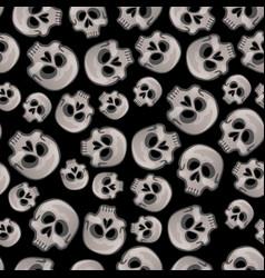 Texture human skull isolated on black vector