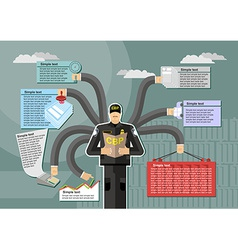 US Customs and Border Protection infographic Work vector image vector image