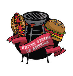 usa fast food vector image