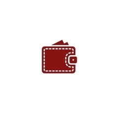Wallet web icon vector image