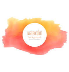 Watercolor stain grunge in yellow and red shade vector