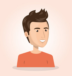 Young man lifestyle avatar vector