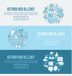 asthma and allergy concept for web page banner vector image vector image