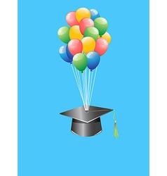 balloon graduation cap vector image