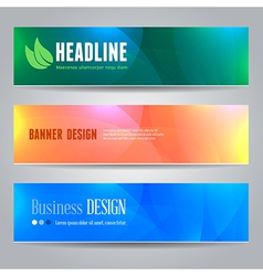 Banners template vector image