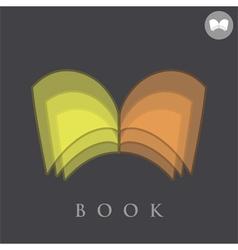 Book logo concept sign vector