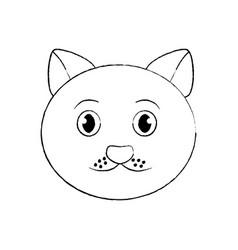 cat pet head cute animal vector image
