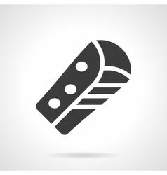 Corn burrito glyph style icon vector image