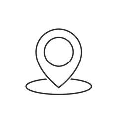 geo location pin line icon vector image