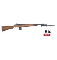M14 rifle vector image