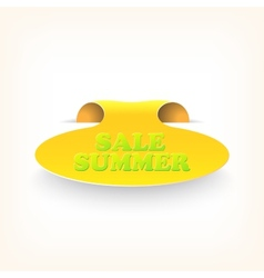 Realistic curved ribbon icon sale summer vector image