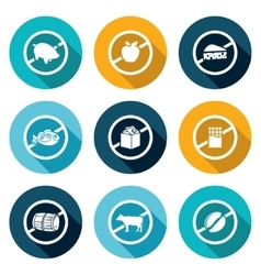 Russian restrictions on imports and exports Icons vector image