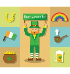 St Patricks Day symbols vector image
