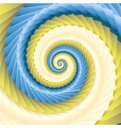 color abstract spirals vector image