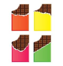 dark chocolate bars vector image vector image