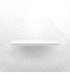 Empty shelf white luxury vector image