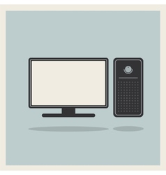 Personal Computer and Monitor vector image vector image
