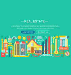 real estate design concept set with online search vector image vector image