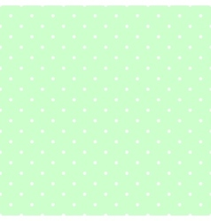 Tile pattern white polka dots on mint green vector image vector image