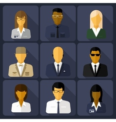 Business set of stylish avatars woman and man vector image vector image