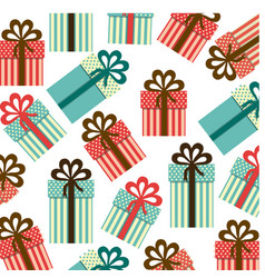colorful background pattern of gift boxes with vector image