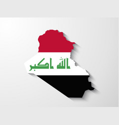 Iraq map with shadow effect presentation vector image vector image