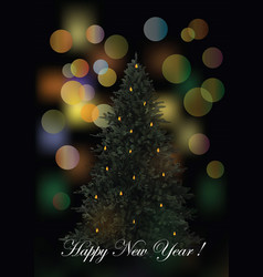 new year greeting card flyer template vector image vector image