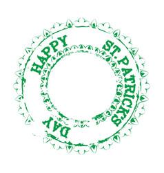 patrick stamp green vector image
