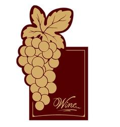 Wine label - gold vine vector image vector image